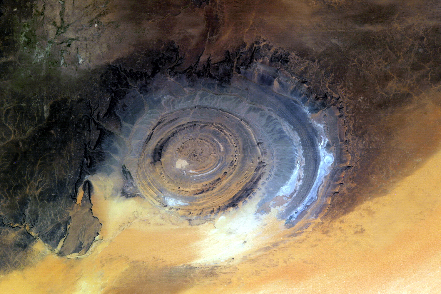 Richat Structure - The peculiar yet strikingly impressive Eye of the Sahara