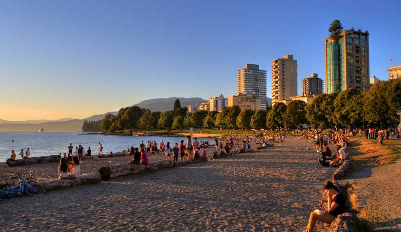 Beach in Vancouver, canada
